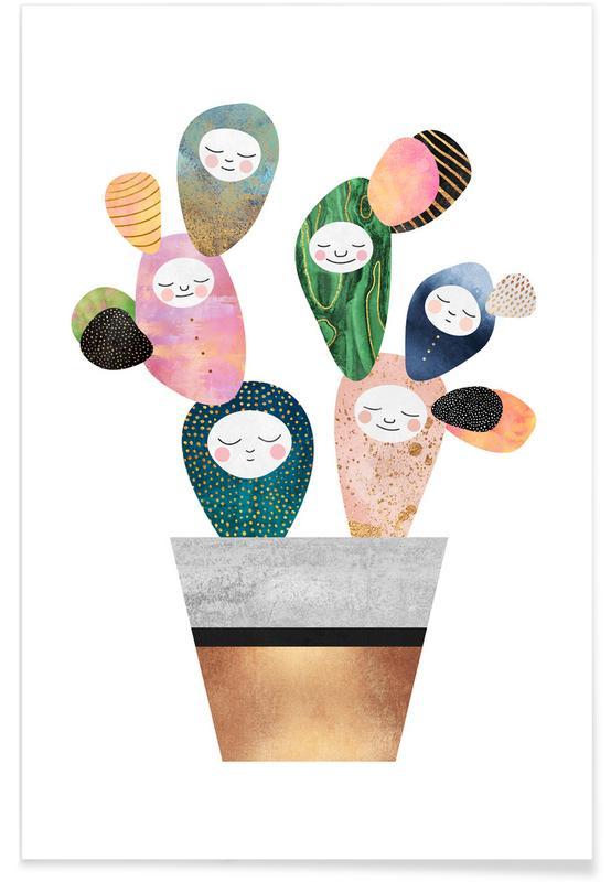 Cacti, Sleepy Cactus Poster