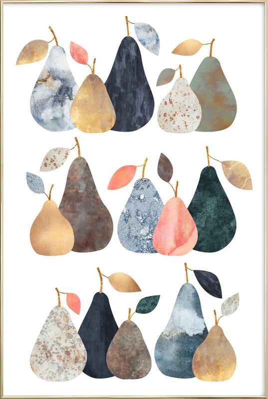 Pears Poster in Aluminium Frame