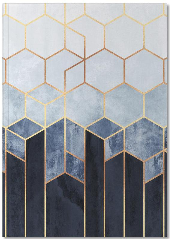 Soft Blue Hexagon Notebook