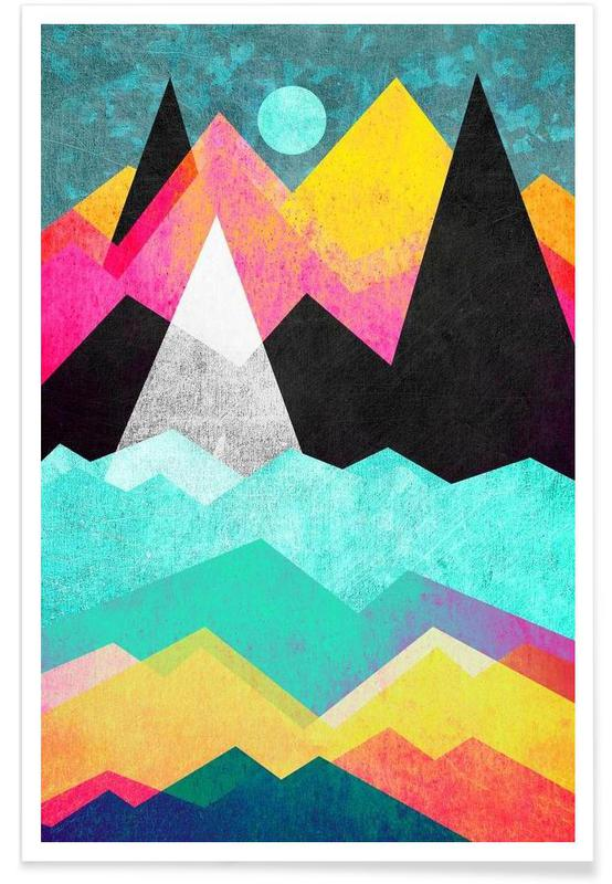 Paysages abstraits, Candyland affiche