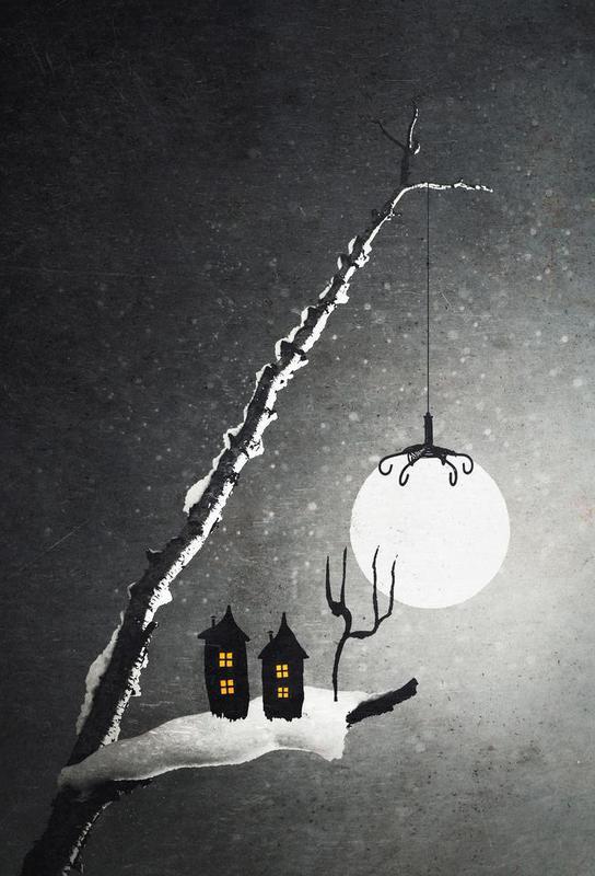 Winter Night alu dibond
