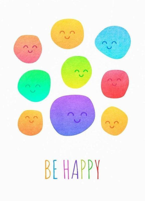Be Happy canvas doek