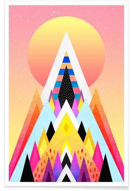 Paysages abstraits, Bubblegum Mountain affiche