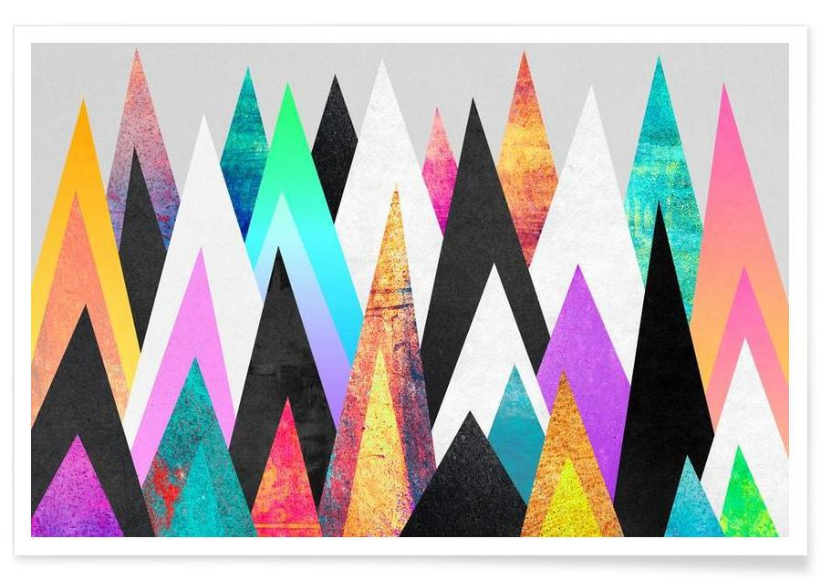 Paysages abstraits, Colorful Peaks affiche