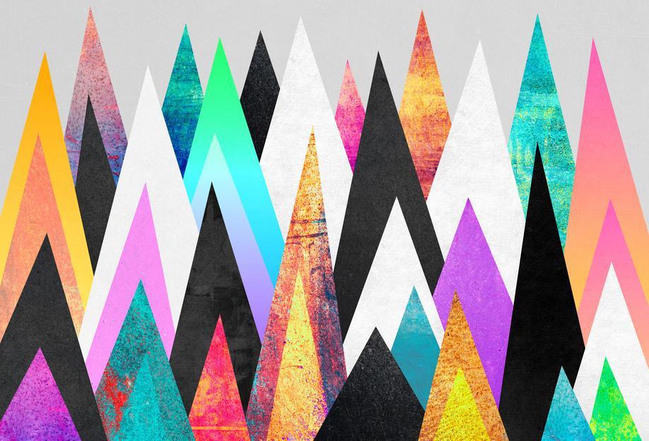 Colorful Peaks Acrylic Print