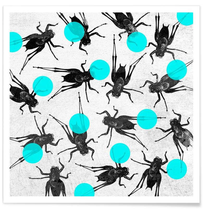 Grasshoppers and Dots -Poster