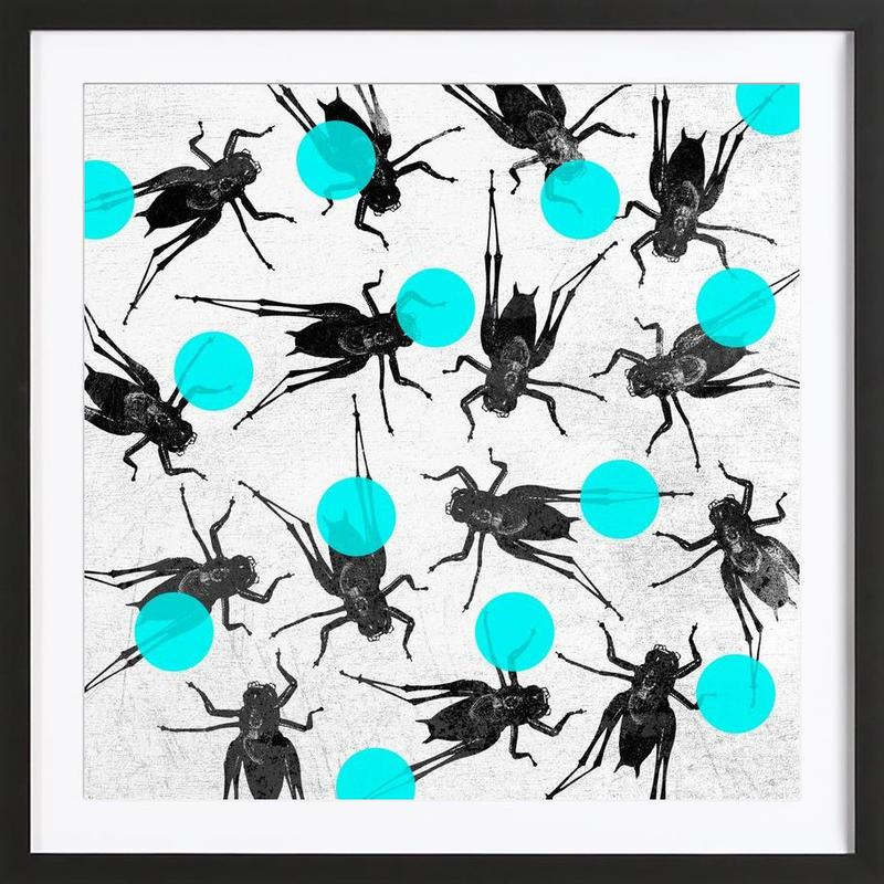 Grasshoppers and Dots Framed Print