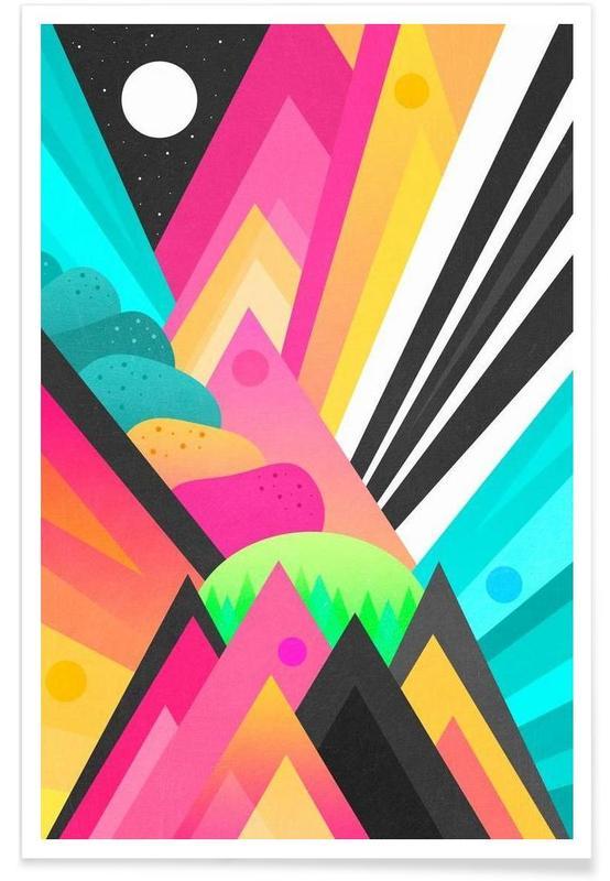 Abstrakte Landschaften, Space Garden -Poster