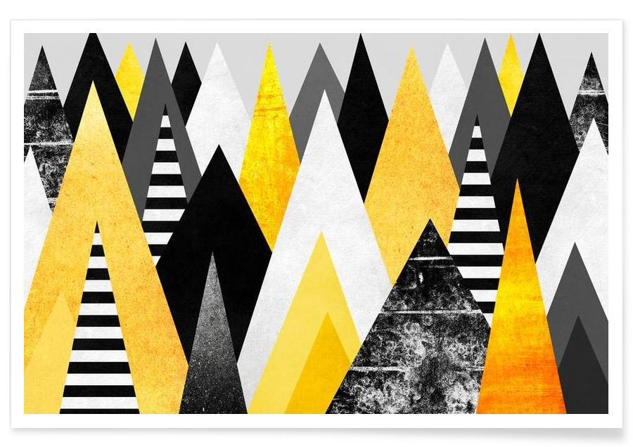 Paysages abstraits, Yellow Peaks affiche