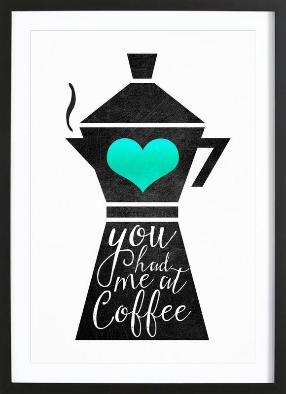You Had Me at Coffee Light Framed Print