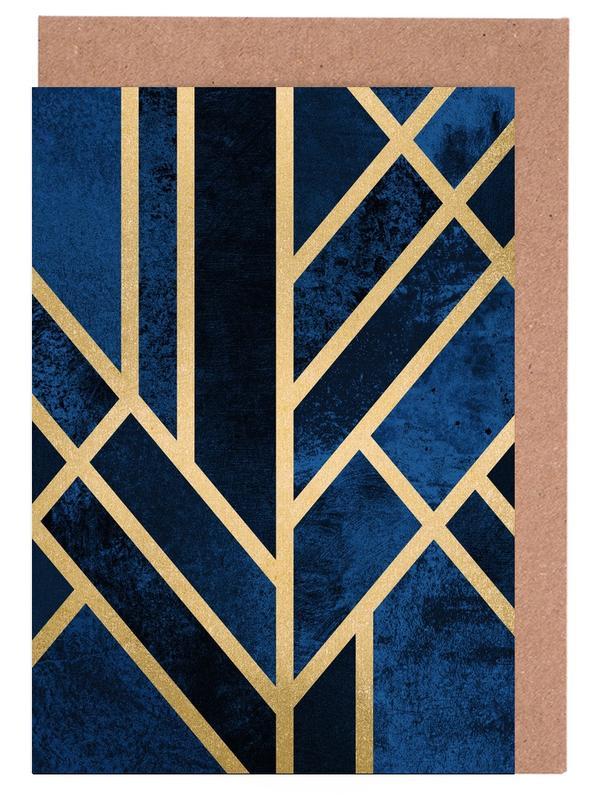 Art Deco Midnight cartes de vœux