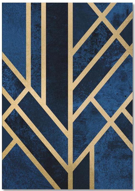 , Art Deco Midnight Notepad