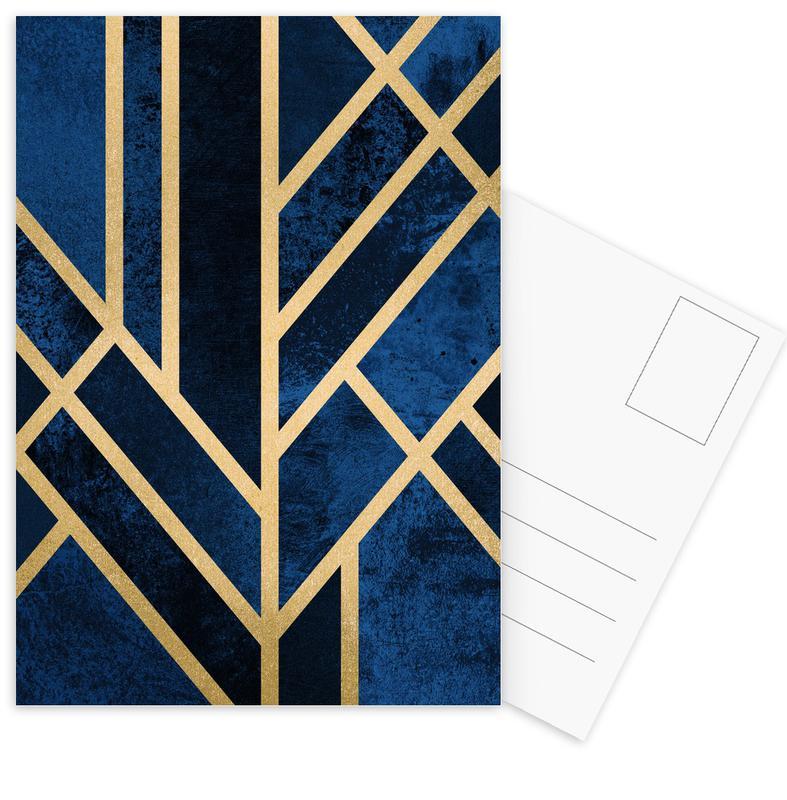 Art Deco Midnight -Postkartenset
