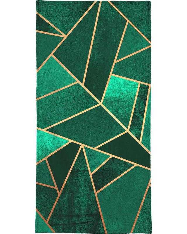 Emerald and Copper Bath Towel