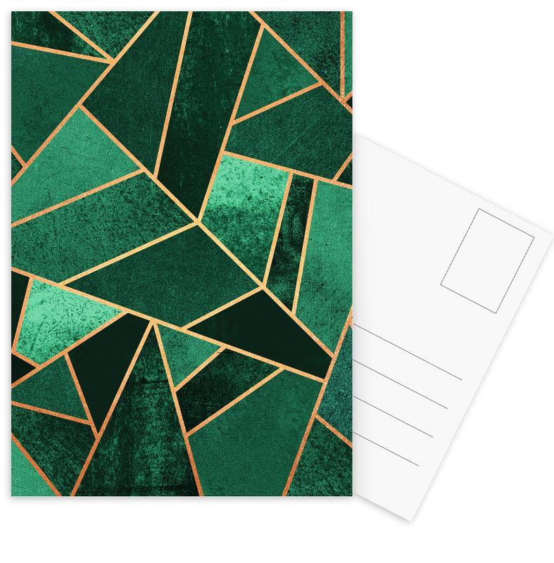 Emerald and Copper Postcard Set