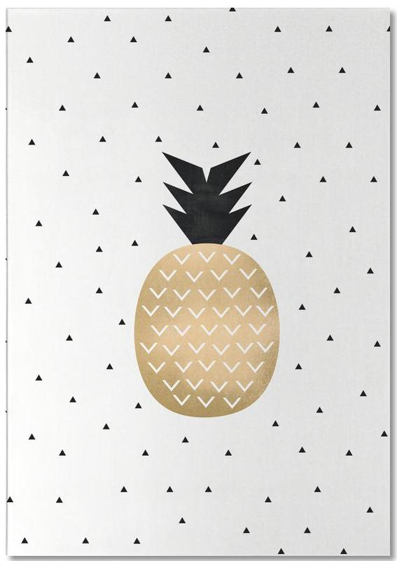 Golden Pineapple Notepad