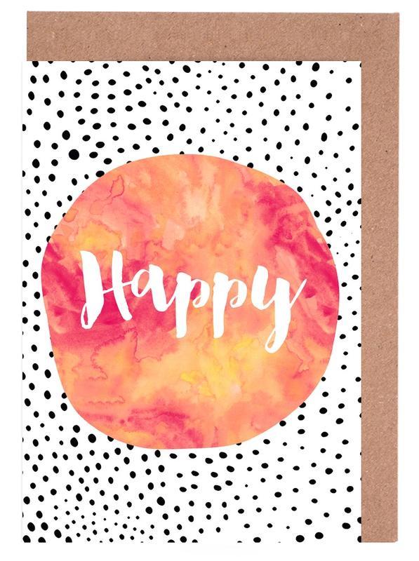 Happy -Grußkarten-Set