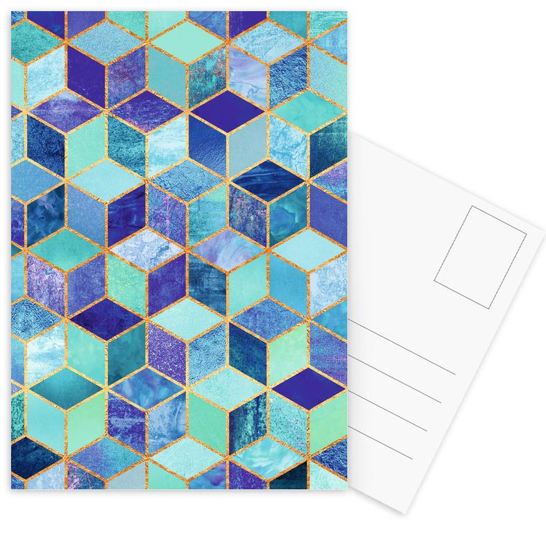 Blue Cubes -Postkartenset