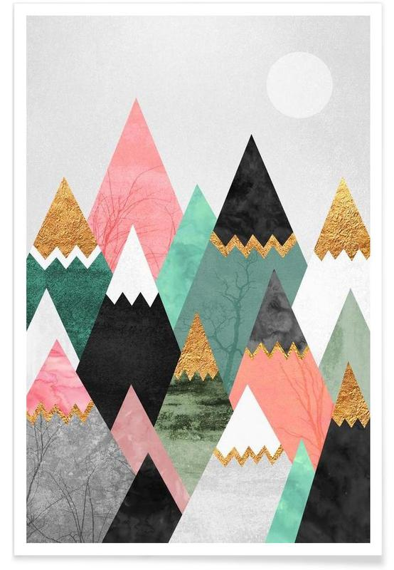 Abstract Landscapes, Pretty Mountains Poster