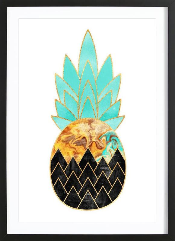 Precious Pineapple 3 -Bild mit Holzrahmen