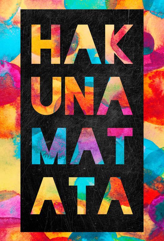 Hakuna Matata 1 Aluminium Print
