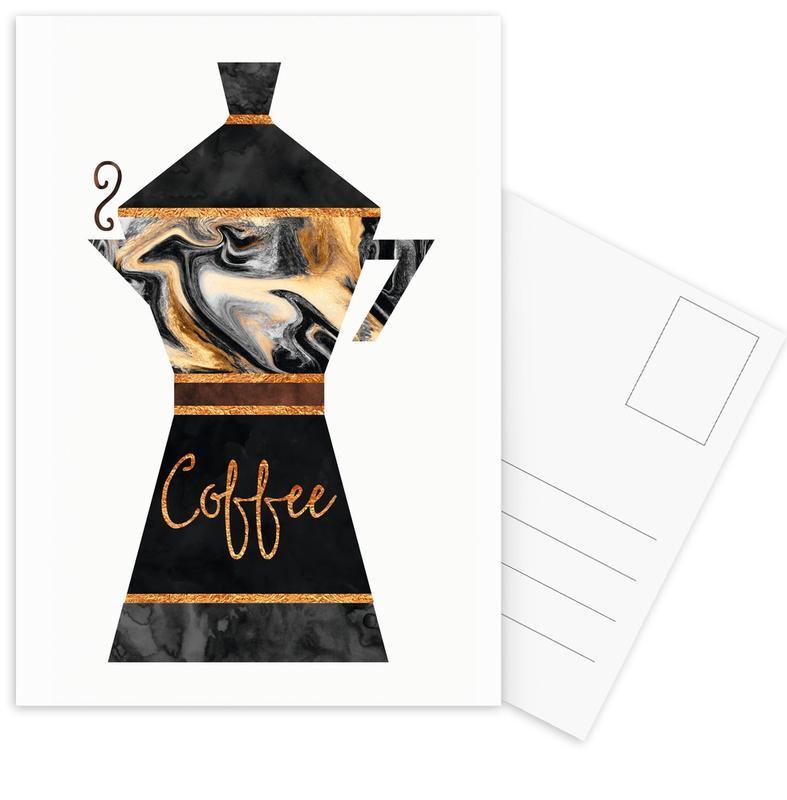 Coffee -Postkartenset