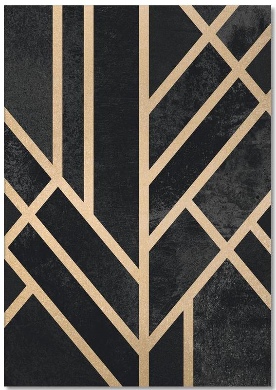 Art Deco Black Notepad