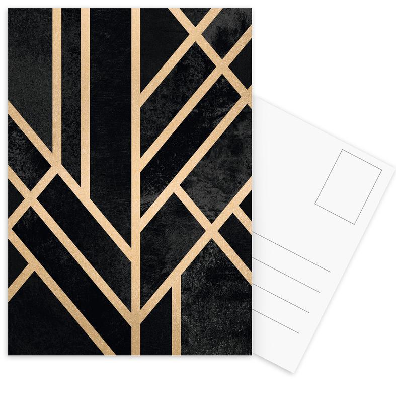 Art Deco Black Postcard Set
