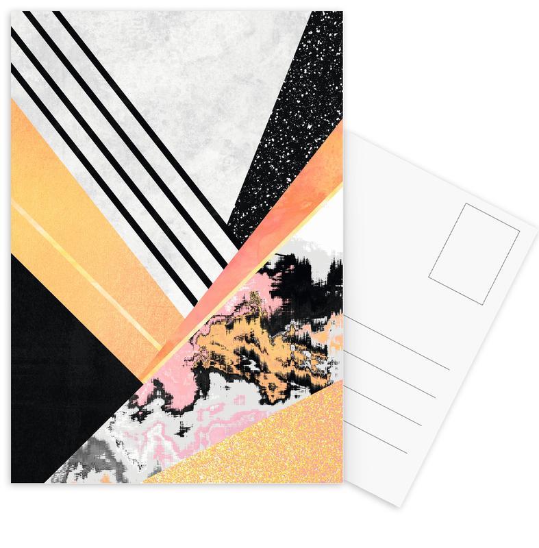 Geometric Summer -Postkartenset