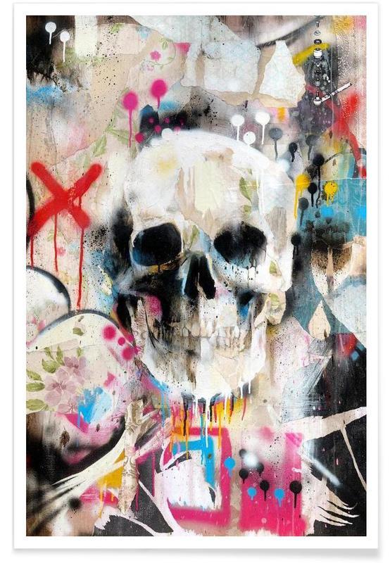 Street Art, Skull affiche