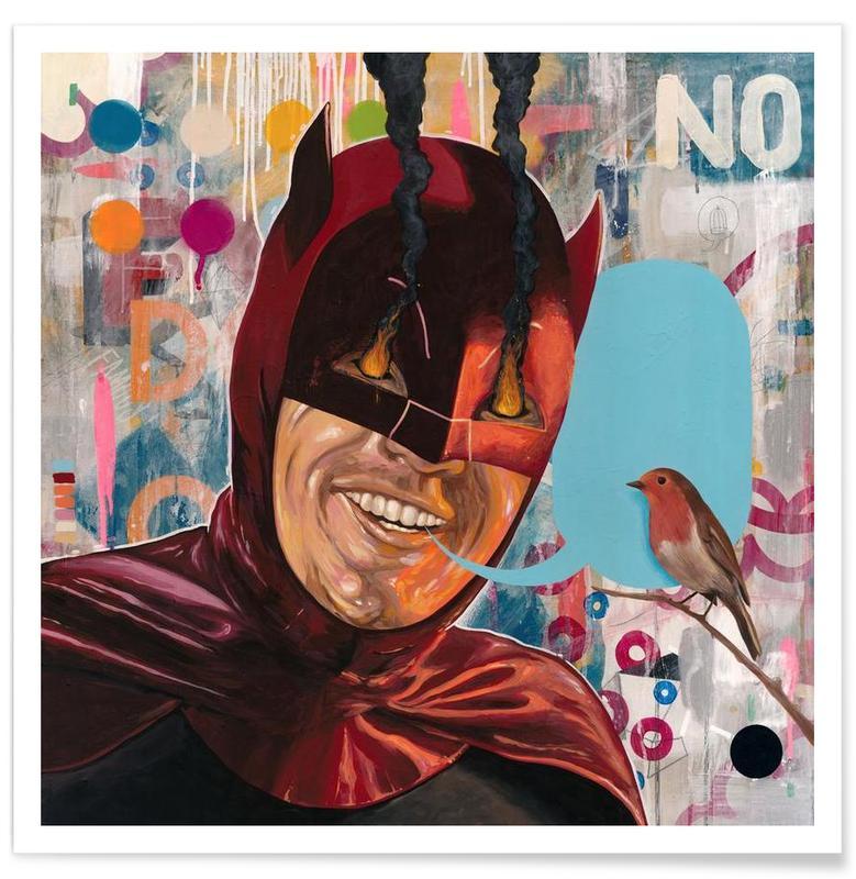 Batman, Street Art, Caped Crusader affiche