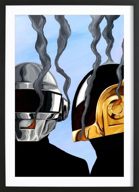 Daft Punk Deux Framed Print