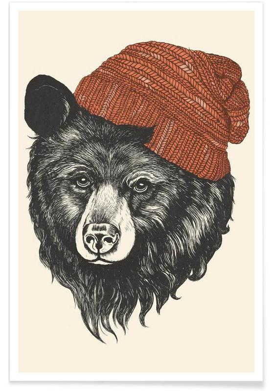 Zissou the Bear Poster