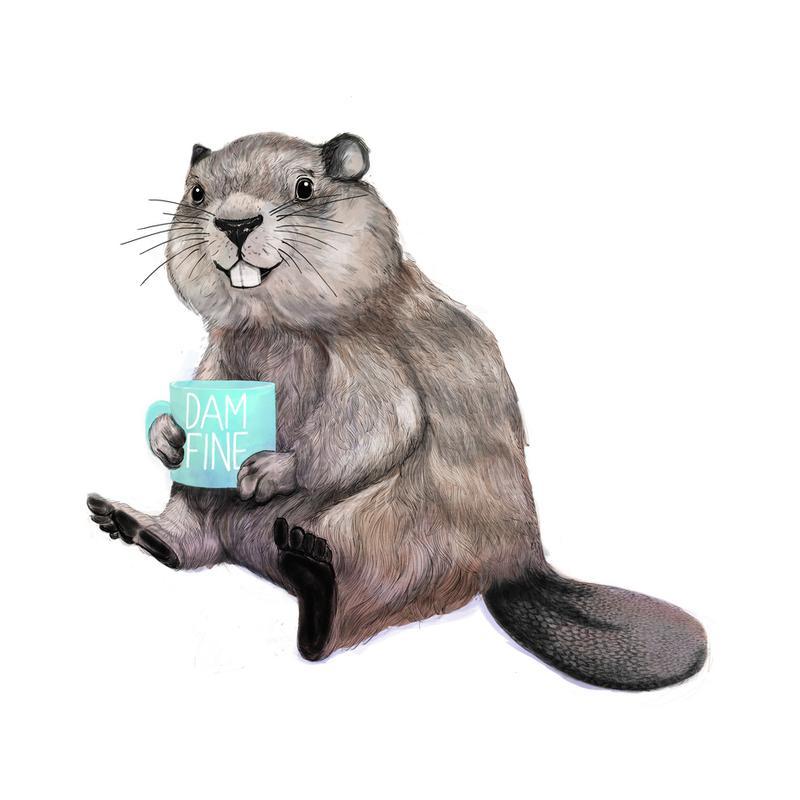 Damn Fine Coffee Impression sur alu-Dibond