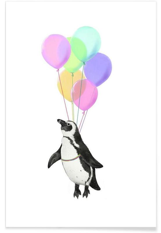 Art pour enfants, Pingouins, I Believe I Can Fly affiche