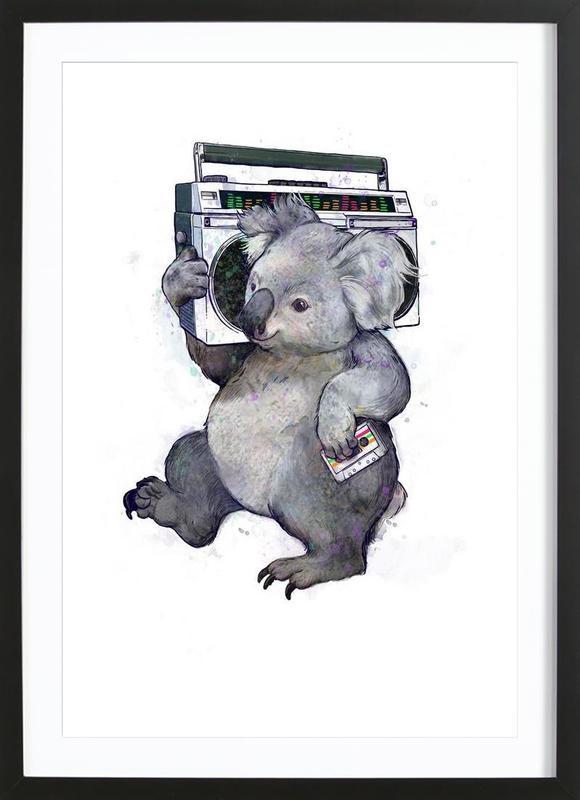 Koala -Bild mit Holzrahmen