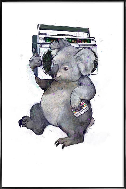 Koala -Bild mit Kunststoffrahmen