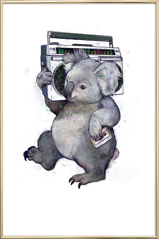 Koala -Poster im Alurahmen