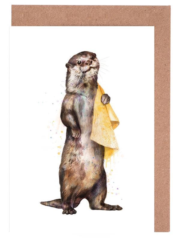 Otter, Otter -Grußkarten-Set