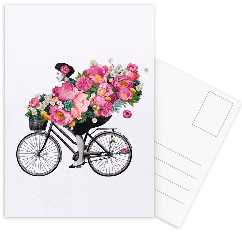 Floral -Postkartenset