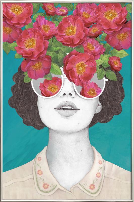 Rose Tinted affiche sous cadre en aluminium