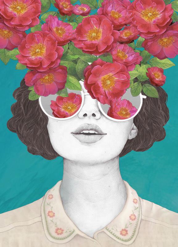 Rose Tinted canvas doek