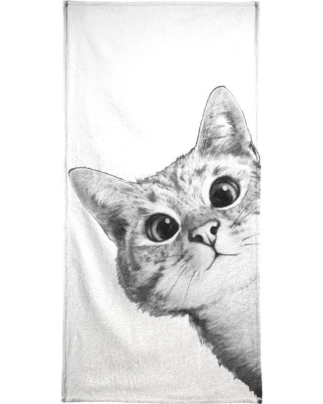 Sneaky Cat serviette de bain