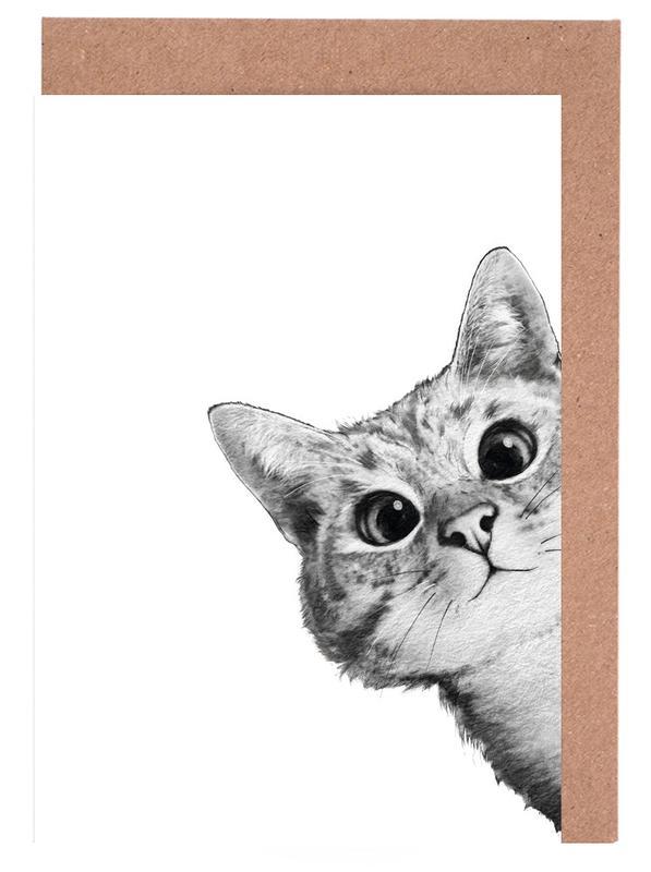 Sneaky Cat -Grußkarten-Set