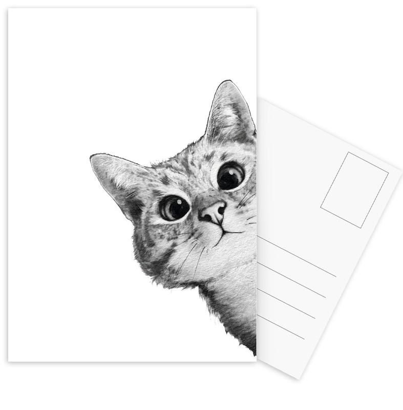 Sneaky Cat Postcard Set