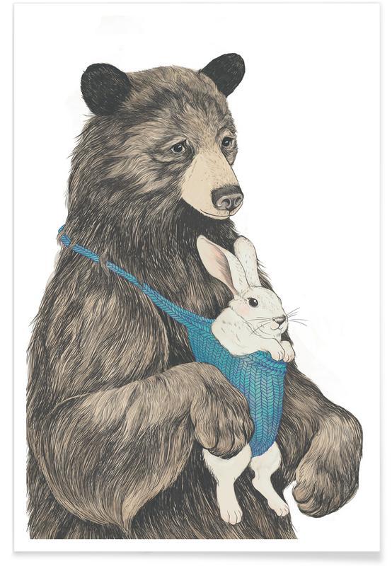 Fête des mères, Naissances, Ours, Bear Au Pair affiche