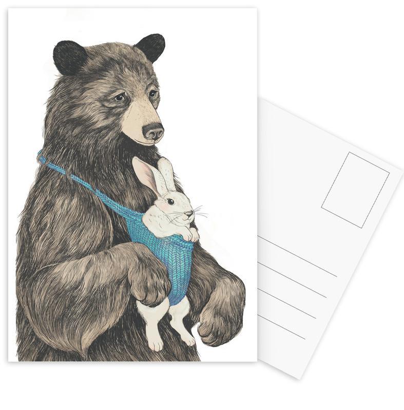Bear Au Pair Postcard Set