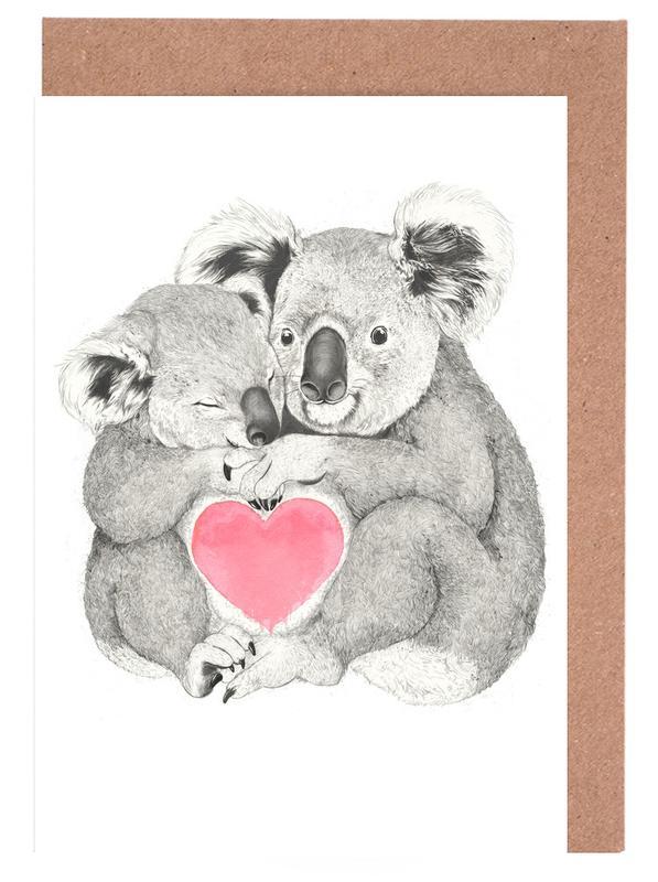 Koala -Grußkarten-Set