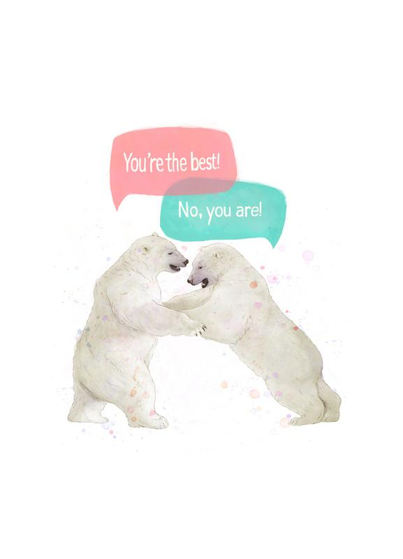Playful Bears Canvas Print