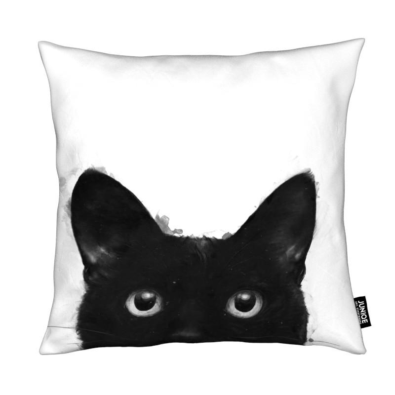 Noir & blanc, Chats, Are You Awake Yet coussin